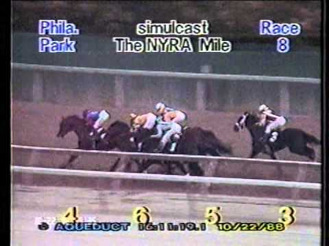 , title : '1988 NYRA Mile H. -- Forty Niner'