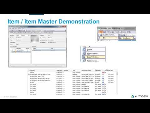 Mastering Items and BOMs with Autodesk Vault Professional