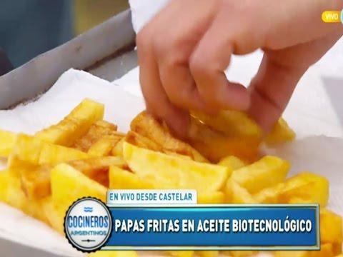 Papas fritas en aceite biotecnológico