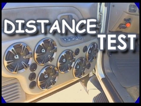Yu-Kong Distance Test w/ 6 Sets Of OXYGEN Audio Speakers & MB Quart 4 Channel Car Amplifier