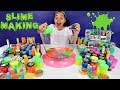 Mixing All My Slimes! DIY Giant Slime Smoothie   Toys AndMe