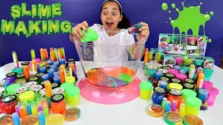 Video Mixing All My Slimes! DIY Giant Slime Smoothie | Toys AndMe MP3, 3GP, MP4, WEBM, AVI, FLV Agustus 2018