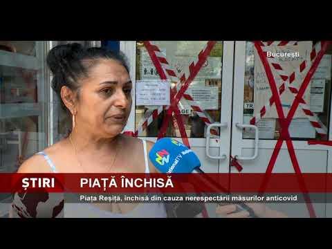 Piața Reșiță, închisă din cauza nerespectării măsurilor anticovid