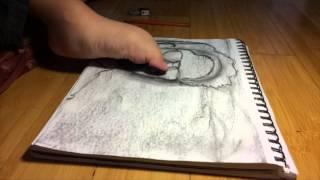 (Foot artist) Drawing of Yexel Sebastin
