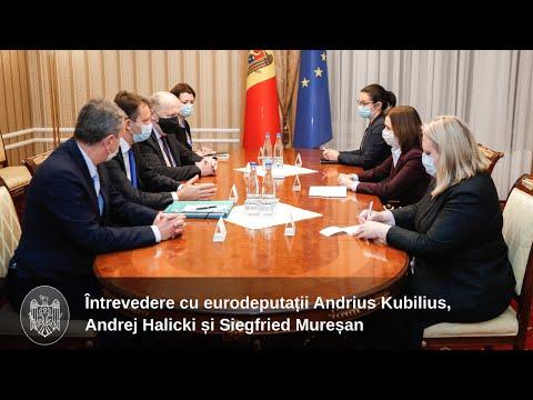 Президент Майя Санду встретилась с группой европарламентариев, находящихся с рабочим визитом в Кишинэу