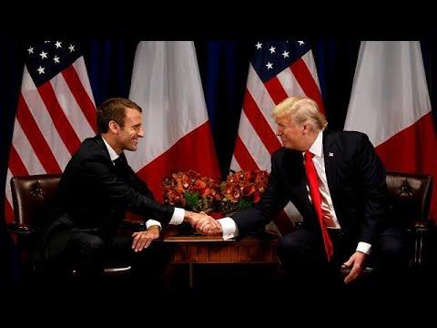 Treffen mit Trump: Macron will Handelskrieg verhinder ...