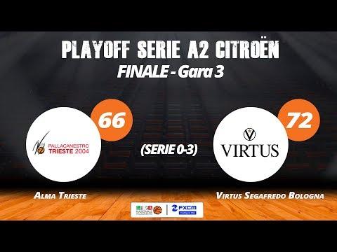 A2 Playoff – Finale Gara3, gli highlights di Trieste-Virtus