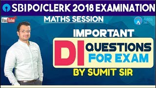 SBI PO/CLERK | Important DI Questions | Maths | Sumit Sir