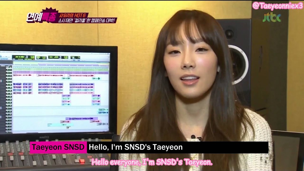[engsub] 140307 JTBC Entertainment News – SNSD's Taeyeon