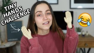 DOING MY MAKEUP WITH TINY HANDS.... omg by Kathleen Lights