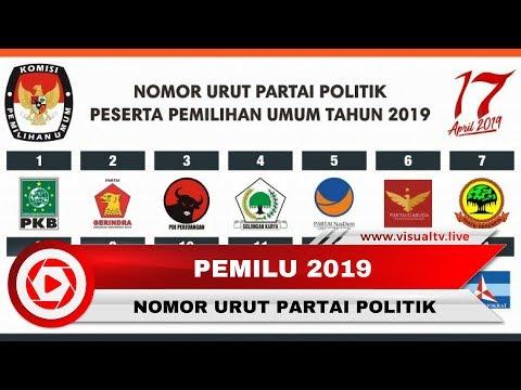 Nomor Urut Partai Politik Peserta Pemilu 2019
