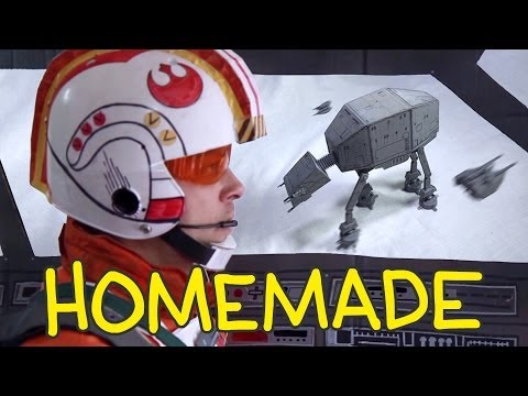 Clever 'homemade' shot-for-shot remake of key scene in 'The Empire Strikes Back'