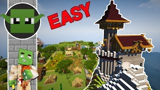 Minecraft EASY Wizard's Tower Tutorial