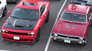 Video Old vs New Muscle Cars Drag Racing,Dodge Demon,Hellcat,Charger 69' and more MP3, 3GP, MP4, WEBM, AVI, FLV Juli 2018