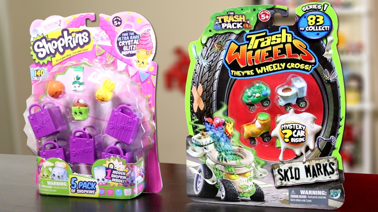 Series 2 SHOPKINS & Series 1 TRASH PACK!