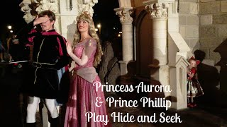 During Mickey's Very Merry Christmas Party, Lane played hide and seek with Princess Aurora and Prince Phillip at Walt Disney World.