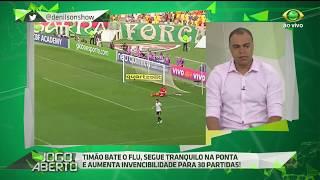 Após a vitória do Timão por 1 a 0 sobre o Fluminense no Maracanã, Denilson atribui elogios ao empenho da equipe do meia-atacante Giovanni Augusto.
