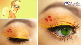 Applejack My Little Pony Inspired Eyeshadow by EyedolizeMakeup - YouTube