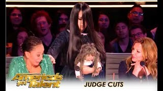 Video The Sacred Riana: Mel B ESCAPES Creepy Girl Magician After HORROR Act! | America's Got Talent 2018 MP3, 3GP, MP4, WEBM, AVI, FLV Maret 2019