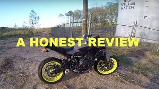 2. 2016 Yamaha FZ-07 1000 Mile Review!