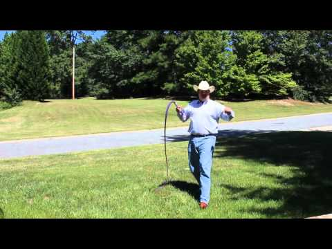 Cracking a 6 foot bull whip (видео)