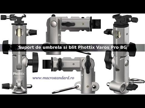 Suport de umbrela si blit Phottix Varos Pro BG