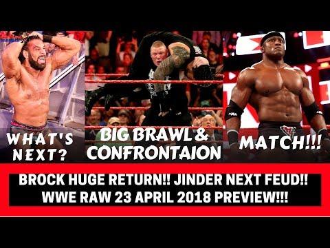 WWE RAW 23 April 2018 Highlights Preview!!!|BROCK & ROMAN confrontation!!!|WWE RAW 23 April 2018!!!|