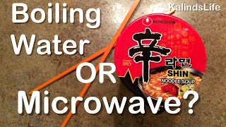 Nongshim Shin Ramyun Red Cup | Microwave or Boil Method? | Find the truth here!