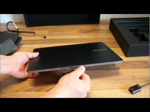 Samsung Series 9 NP900X3C Unboxing deutsch