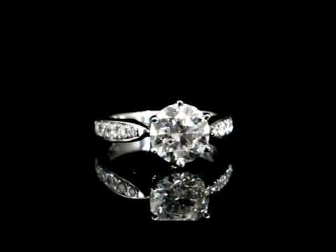 CGL Certified 2.50ct Round Brilliant Cut Canadian Diamond Ring (with Laser Inscription)