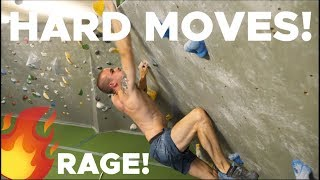 HARD MOVES and ULTIMATE RAGE! by Bouldering Bobat