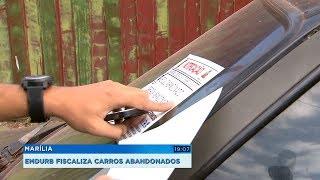 Emdurb de Marília intensifica fiscalização a carros abandonados em vias públicas