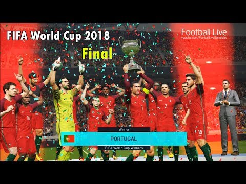 PES 2018 | FIFA World Cup 2018 FINAL | BELGIUM Vs PORTUGAL | C.Ronaldo Poker [4 Goals] | Gameplay PC