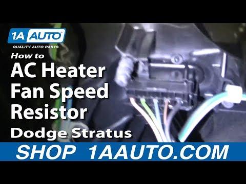 How To Fix AC Heater Fan Speed Resistor Dodge Stratus 01-04 1AAuto.com