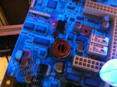UV conformal coating - UV Inspection of a Conformal Coated Board Top and Bottom Side.