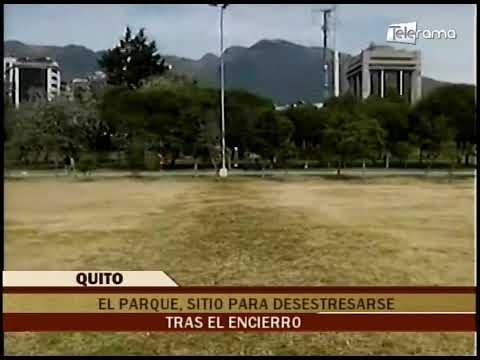El parque, sitio para desestresarse tras el encierro