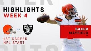 Baker Mayfield Highlights in First Career NFL Start!
