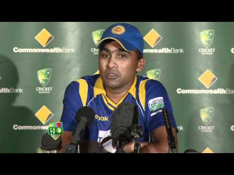 Post-match press conference with Mahela, Match 9, Hobart, CB Series, 2012