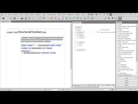 Create a basic structured DITA concept in Adobe FrameMaker 12