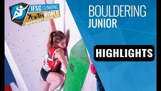 IFSC Youth World Championships Moscow 2018 - Juniors Bouldering Finals Highlights by International Federation of Sport Climbing