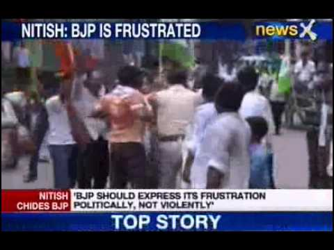workers; - NewsX: Bihar is being bloodied as BJP and JD(U) workers clash across the state. The violence started when BJP workers went about trying to enforce the bandh ...