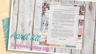 Hello everyone! Here's a look at the Scrapbookingstore.com April kit.https://www.scrapbookingstore.com