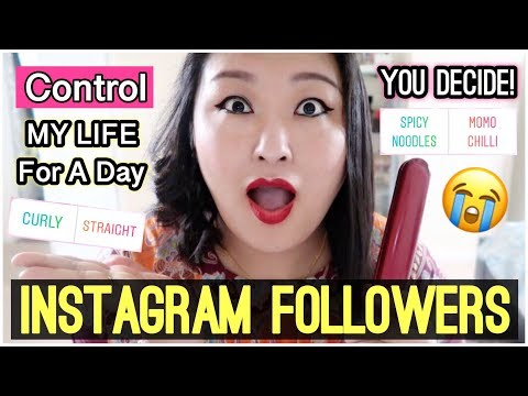(My Instagram Followers Control My Life For A Day! Curly or Straight?! MOMO or Noodles?! - Vlog #126 - Duration: 17 minutes.)