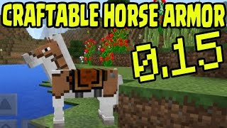 "Minecraft MCPE 0.15 ""Craftable Leather Horse Armor"" Update Release Minecraft PE (Pocket Edition)"