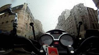 10. Moto Guzzi in Paris Rain