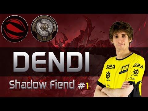 NaVi Dendi plays ShadowFiend [Blink Eul build 13-0 vs Team MvP] Dota 2 [TI5 Group]