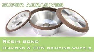Resin bond flaring cup diamond CBN grinding wheel youtube video