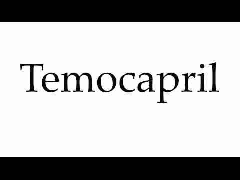 How to Pronounce Temocapril