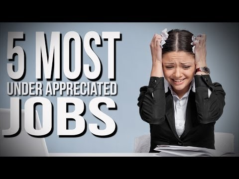 jobs - Here's a list of the top 5 most under appreciated jobs as defined by TIME magazine. Buy some awesomeness for yourself! http://www.forhumanpeoples.com/collections/sourcefed Our Sources:...