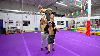 Video RETURN OF THE INSANE GYMNASTICS CHALLENGE! MP3, 3GP, MP4, WEBM, AVI, FLV Juni 2018